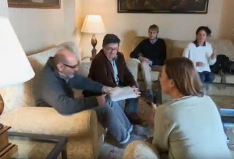 Tramuntana XXI es reuneix amb la presidenta del Govern Balear