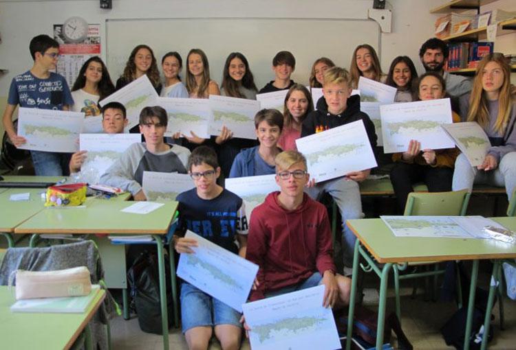 """Realitzam 72 tallers a escoles amb el material """"La Serra de Tramuntana: un món per descobrir"""""""