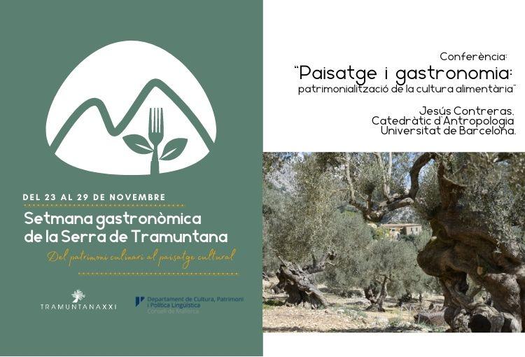 """Conferència """"Paisatge i gastronomia: patrimonialització de la cultura alimentària"""""""